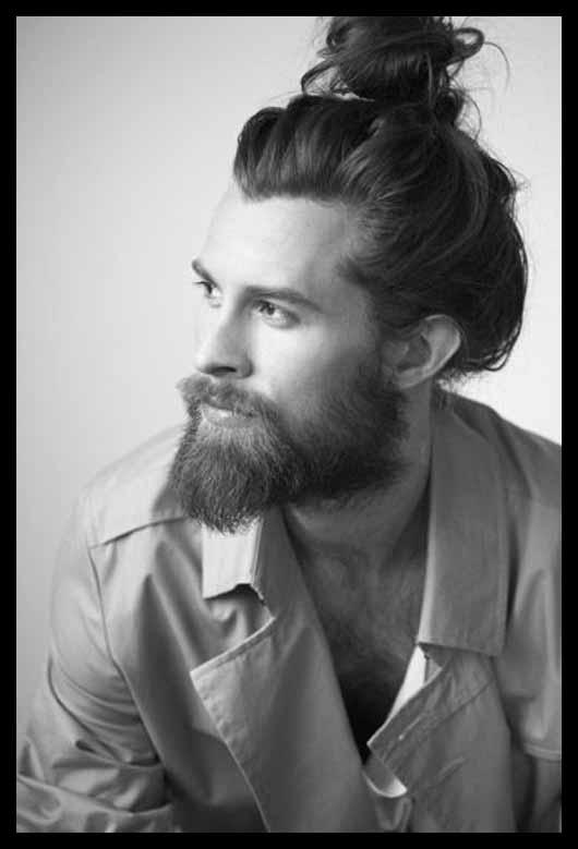 2016 Men's Long Hairstyles Man Bun