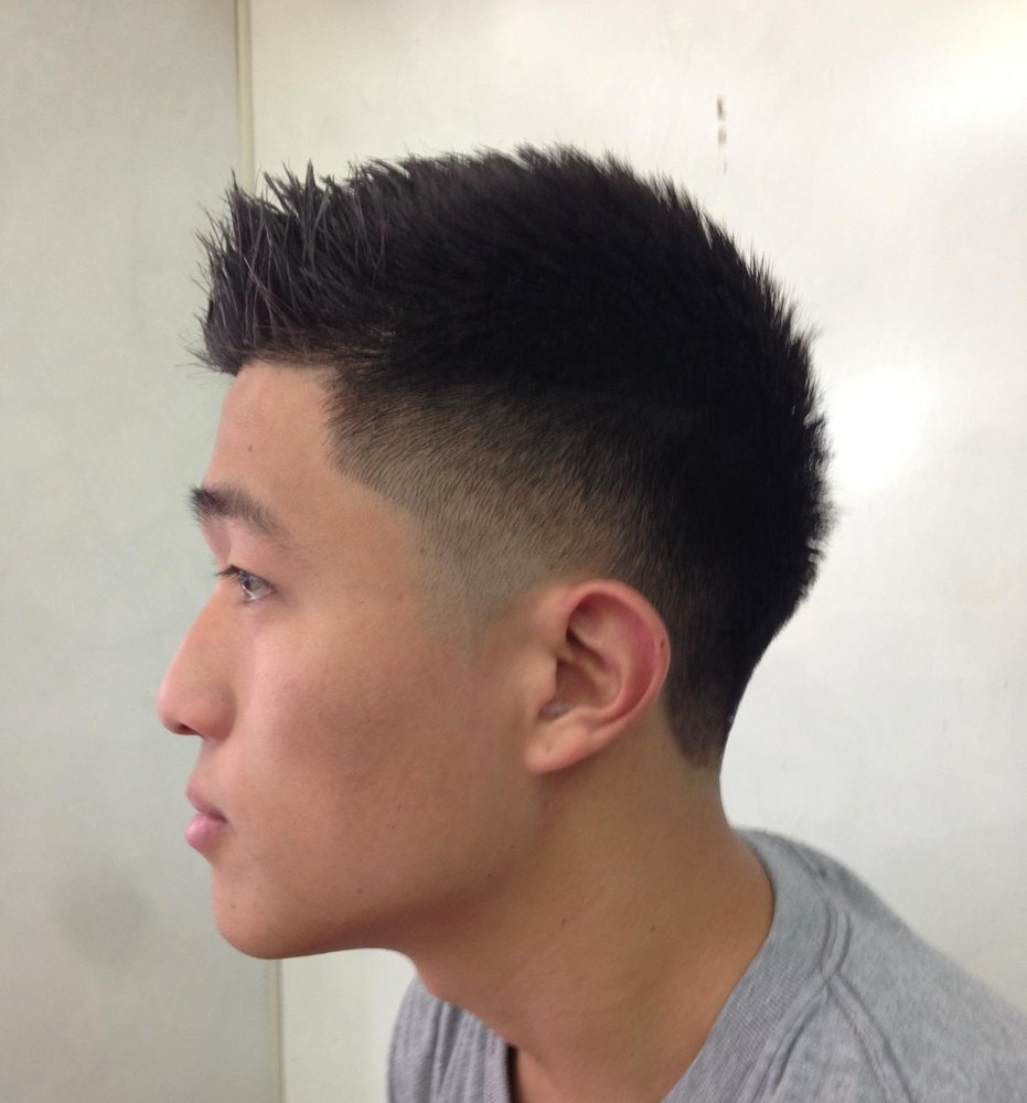 Asian Faux Hawk Fade Haircut