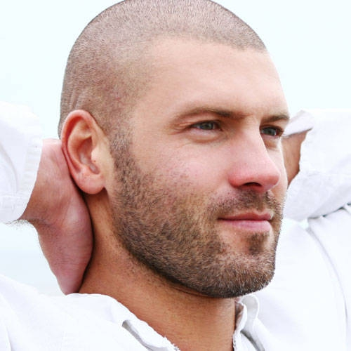 Beard with Buzz Cut Hair Styles