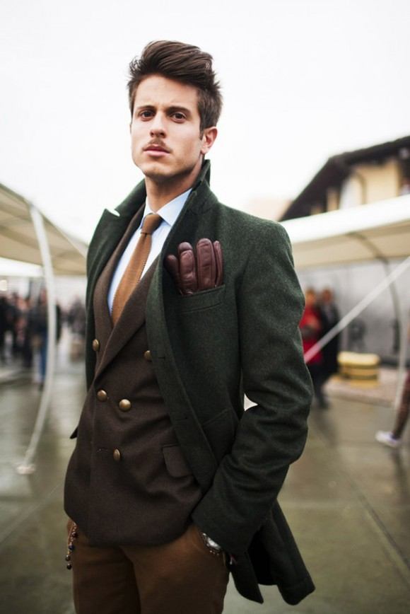 Brown Jacket Style Man Fashion