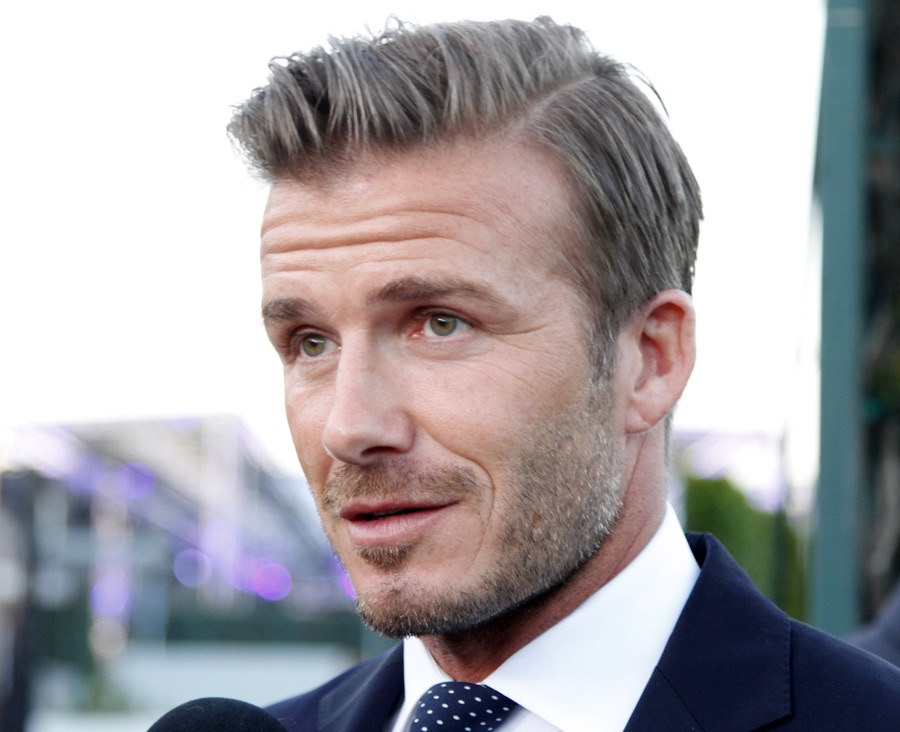 David Beckham Side Part Hair