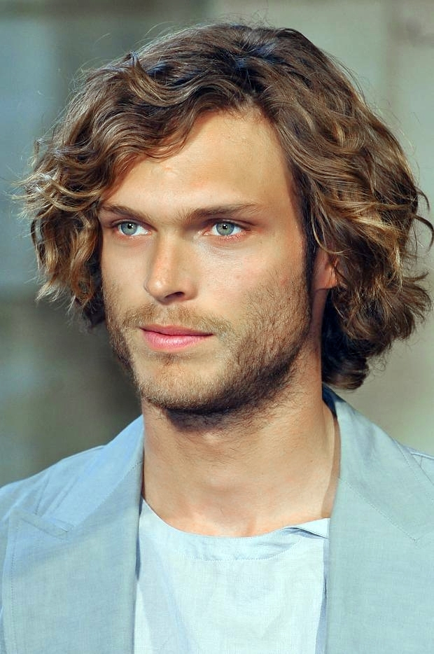 How to Style Medium Curly Hair Men