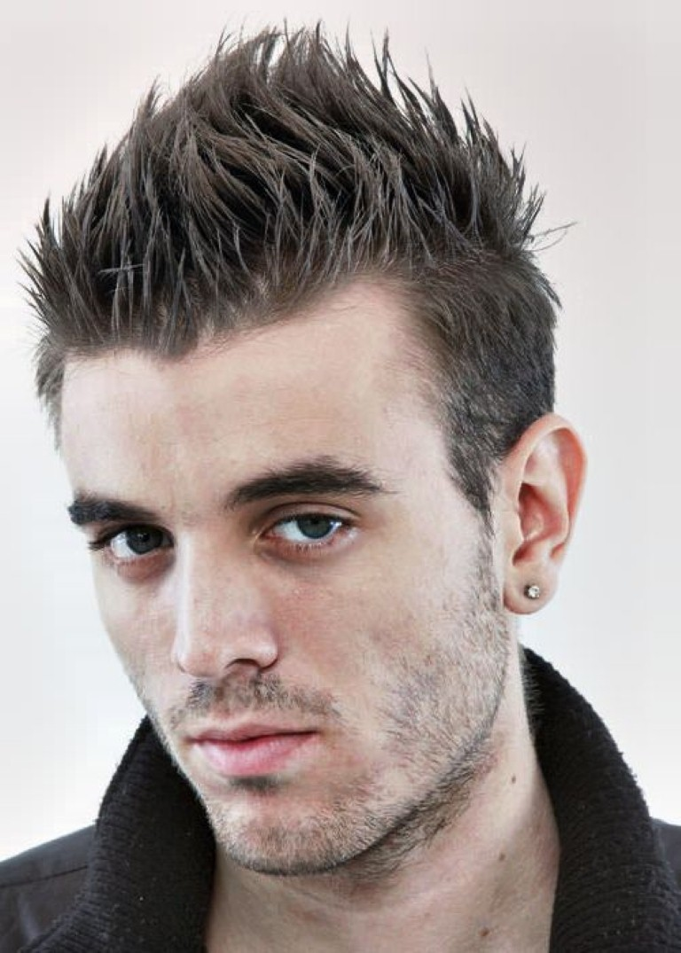 Hairstyles For Guys : Short Hairstyles Round Face Men additionally Short Hairstyles For Men ...