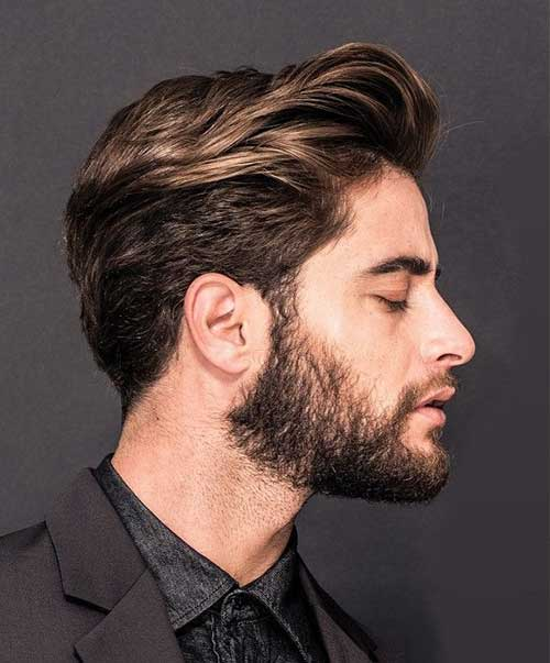 Medium Hairstyles for Men with Brown Highlights