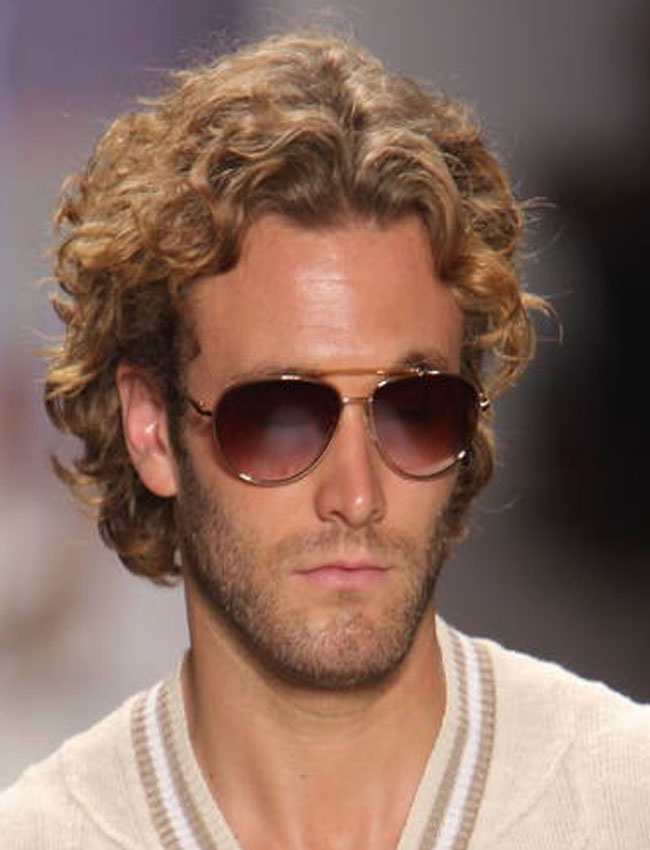 Medium Length Hairstyles Curly Hair Men