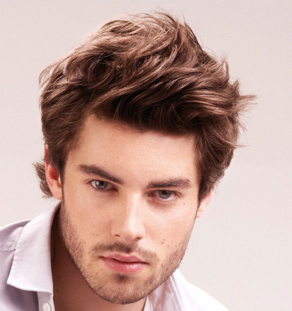 Men Hairstyle with Straight Hair....