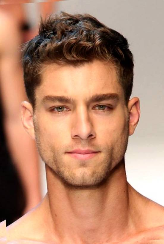 Mens Hairstyle Widows Peak