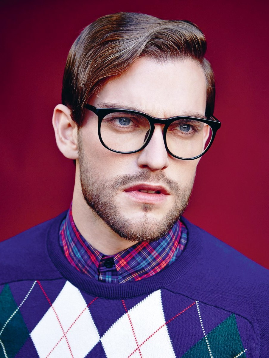 Short men's hairstyle and strong