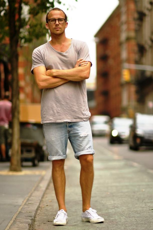 Summer Style Men Shoes with Shorts