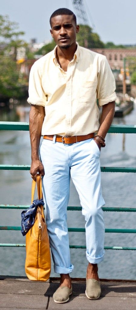 black men preppy look