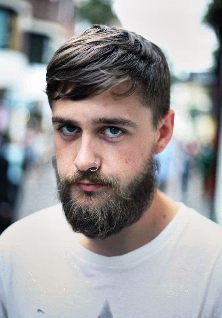 classy hairstyles for men with beards