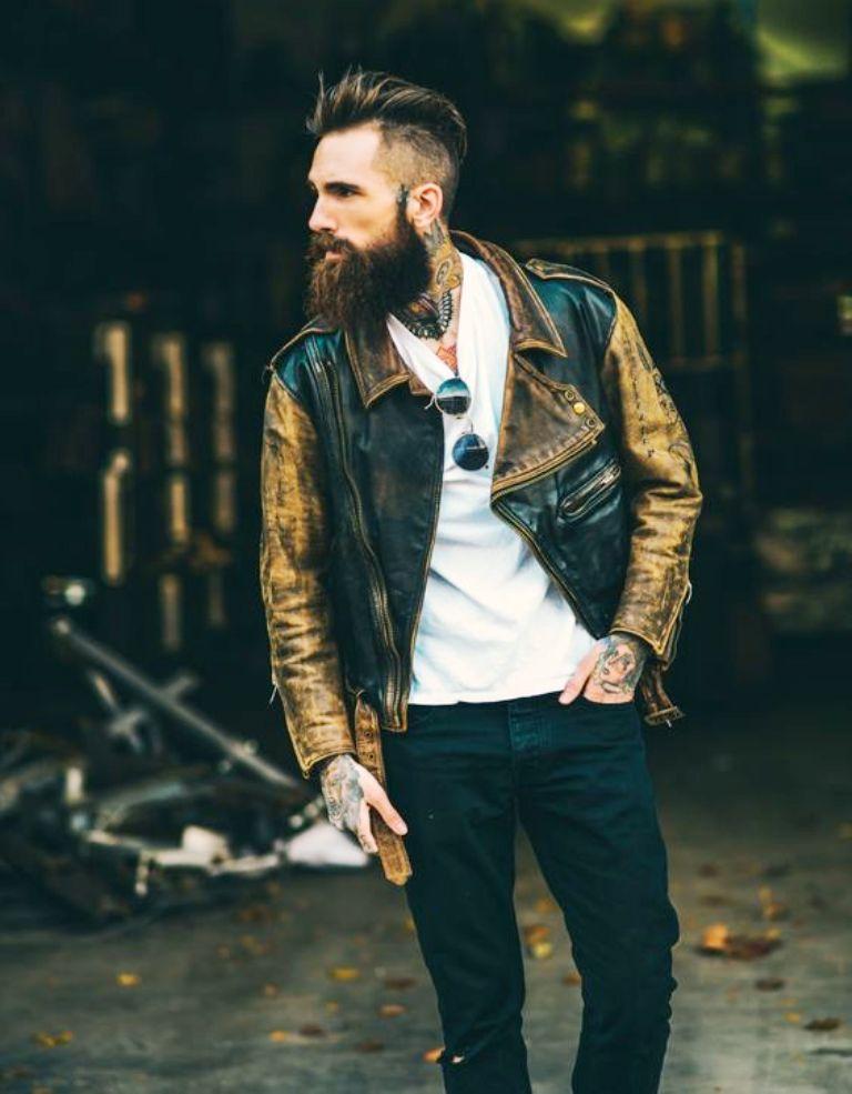 grunge look wid beard
