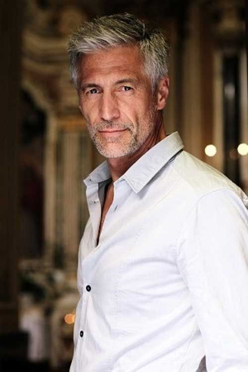 older mens hairstyles silver
