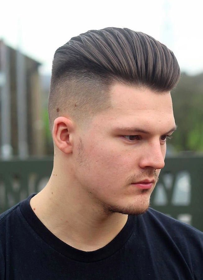 medium hairstyles for men high fade
