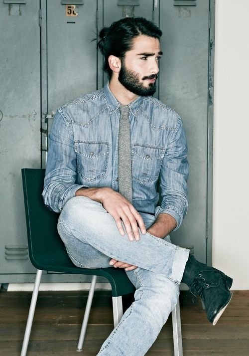 hairstyles for men with beards casual