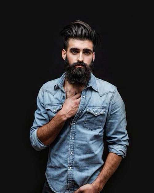 hairstyles for men with beards hipster