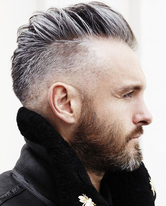 hairstyles for men with beards shaved sides