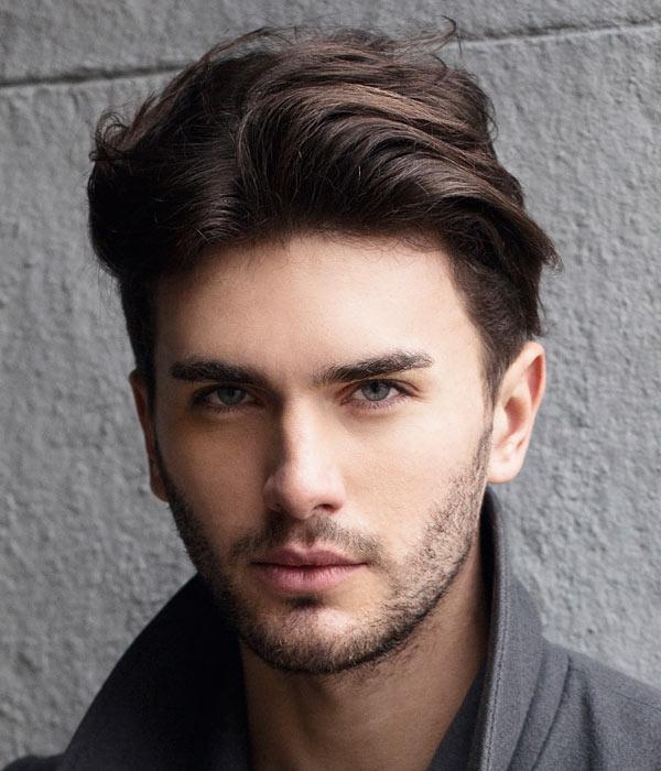 medium hairstyles for men thick hair