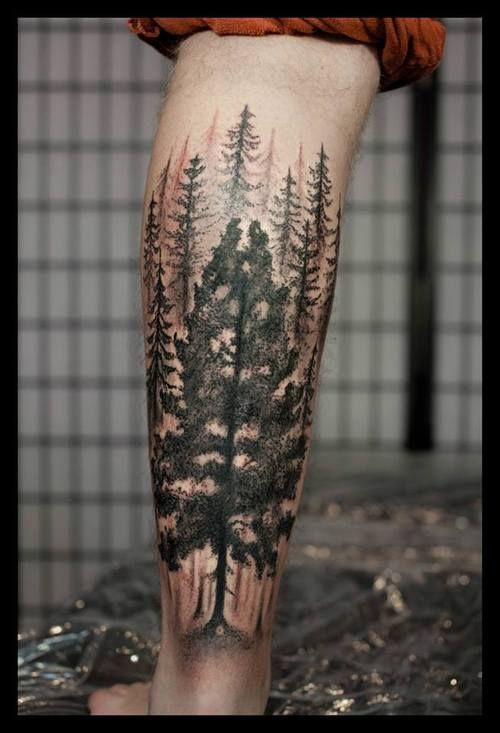 tree tattoos men