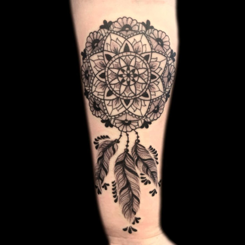 mandala dream catcher tattoo