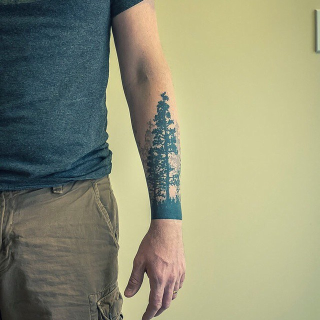 evergreen tree tattoos