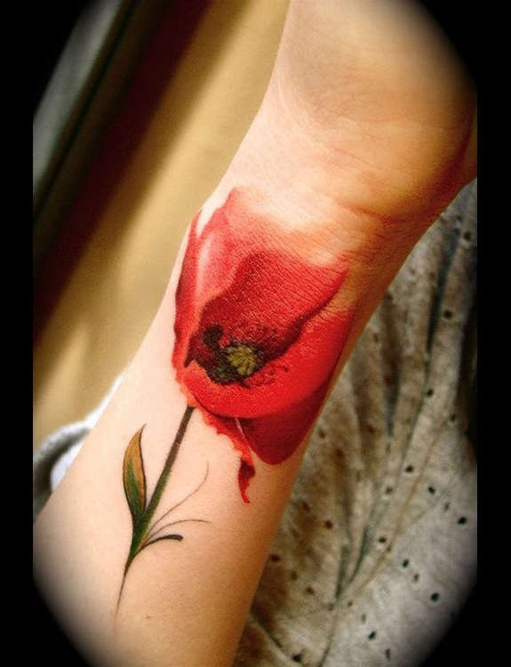 poppy flower tattoos