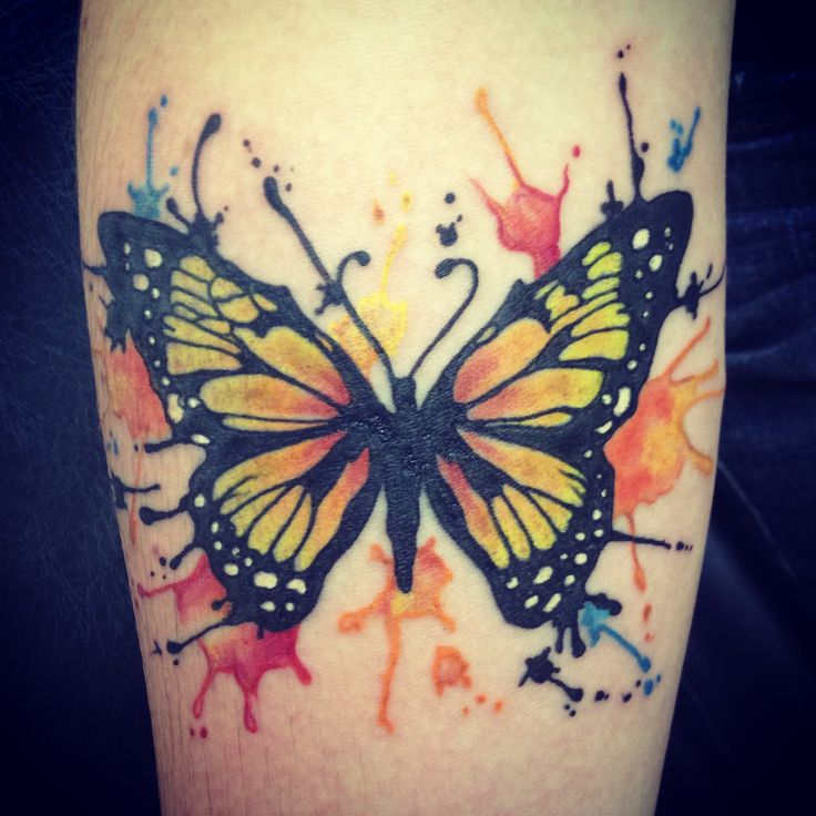 watercolor tattoos butterfly