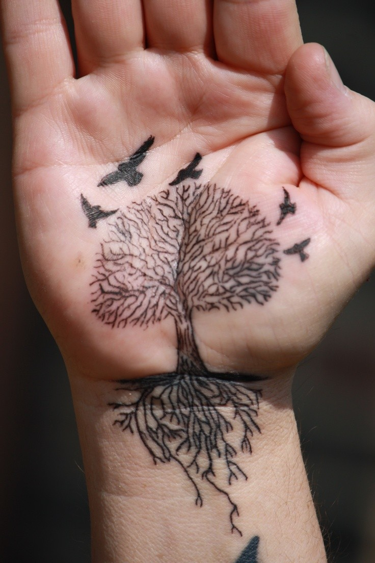 tree tattoos roots