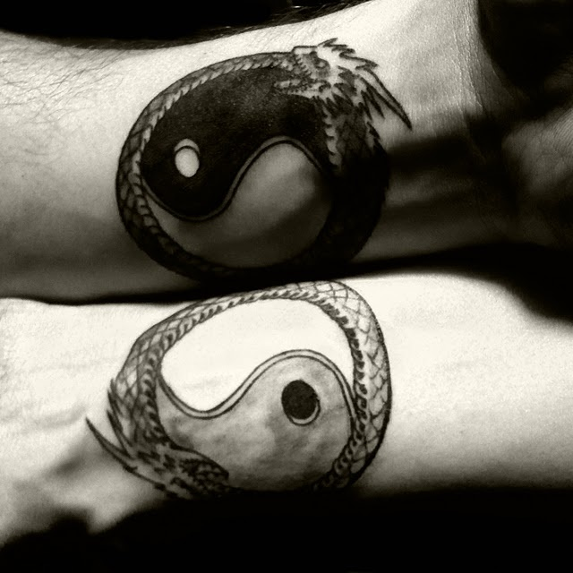 tribal couple tattoos
