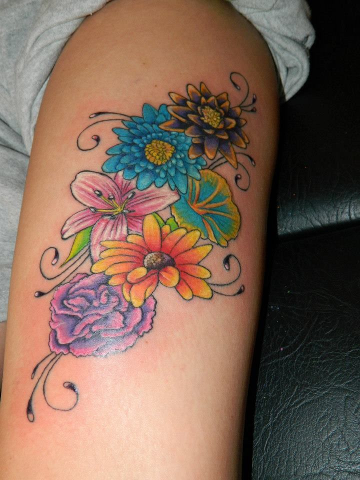 Flower Leg Tattoos: 74 Gorgeous Flower Tattoos Design