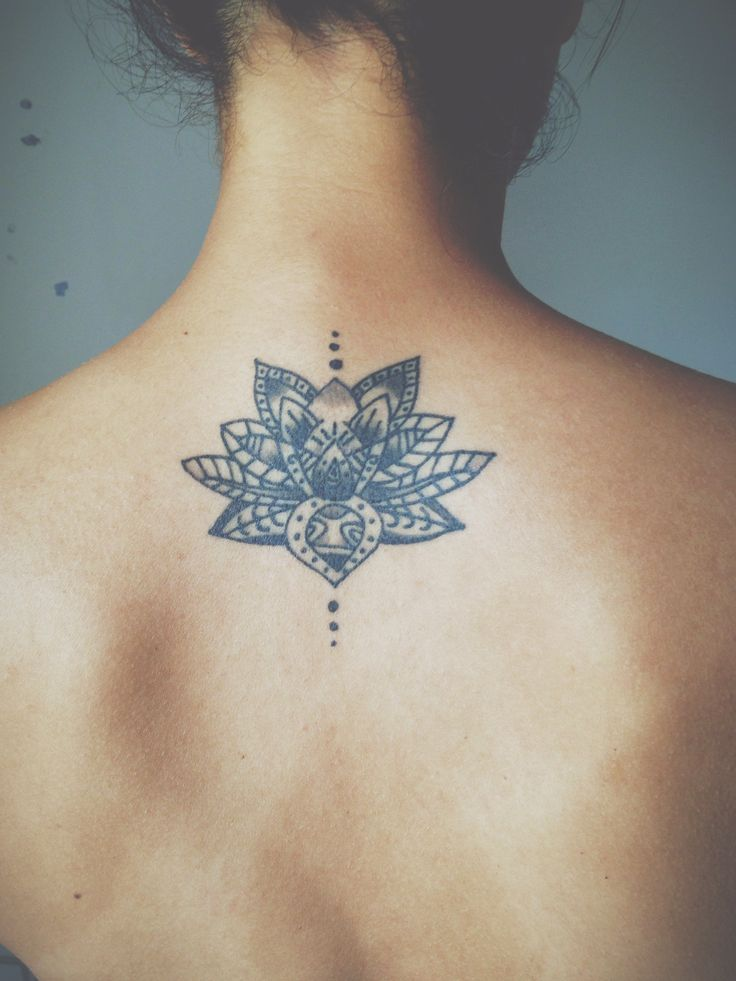 lotus back tattoos
