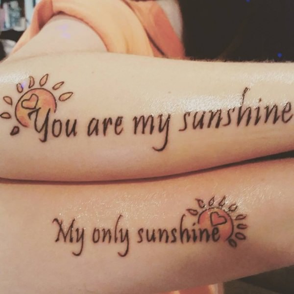 you are my sunshine mother daughter tattoos