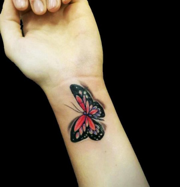 butterfly wrist tattoos