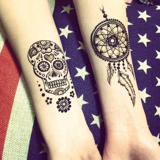 Dream Catcher Henna Tattoo Designs