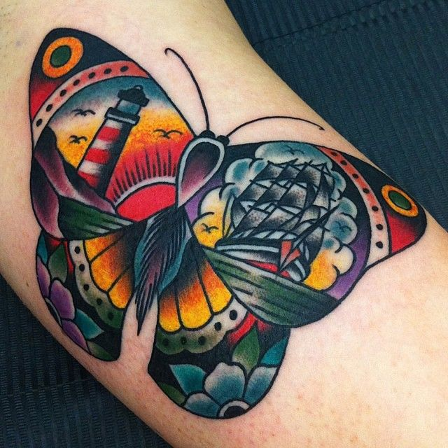 traditional tattoos butterfly