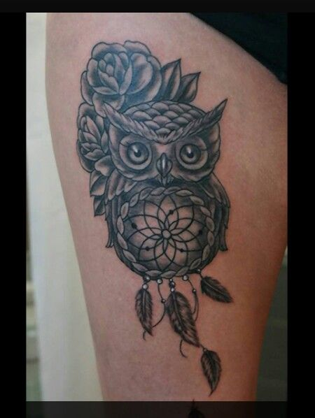 owl tattoo dreamcatcher