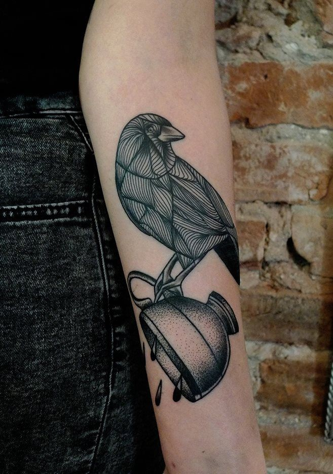 bird forearm tattoos