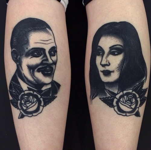 addams family tattoos