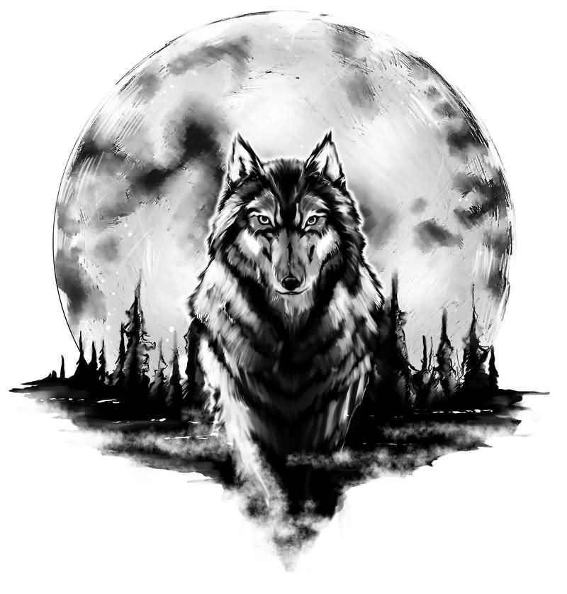 Amazing Wolf: 73 Amazing Wolf Tattoo Designs