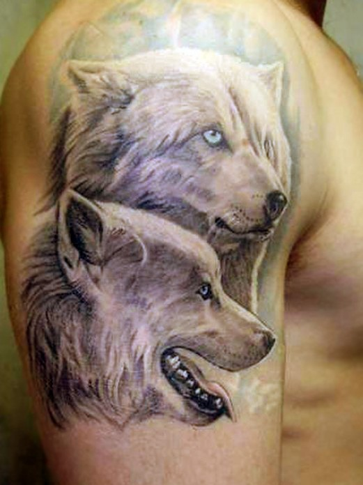 wolf tattoo wolves