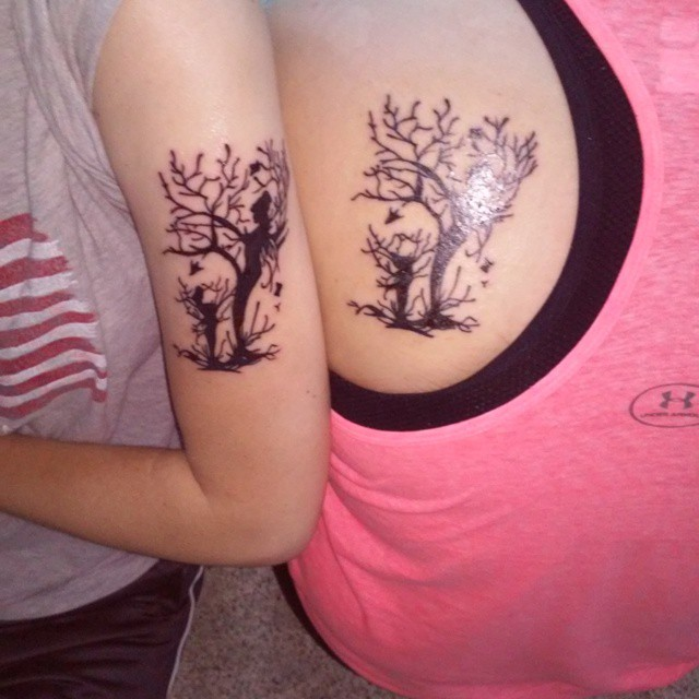 mother daughter tree tattoos