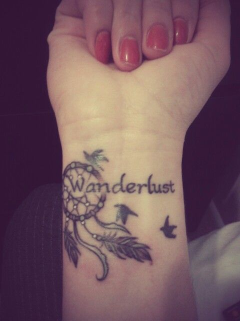 wanderlust compass tattoo