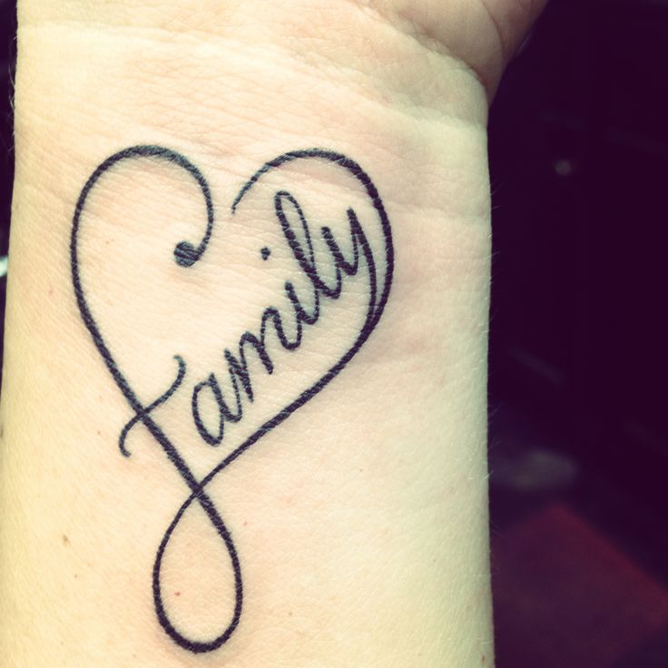 infinity tattoo family