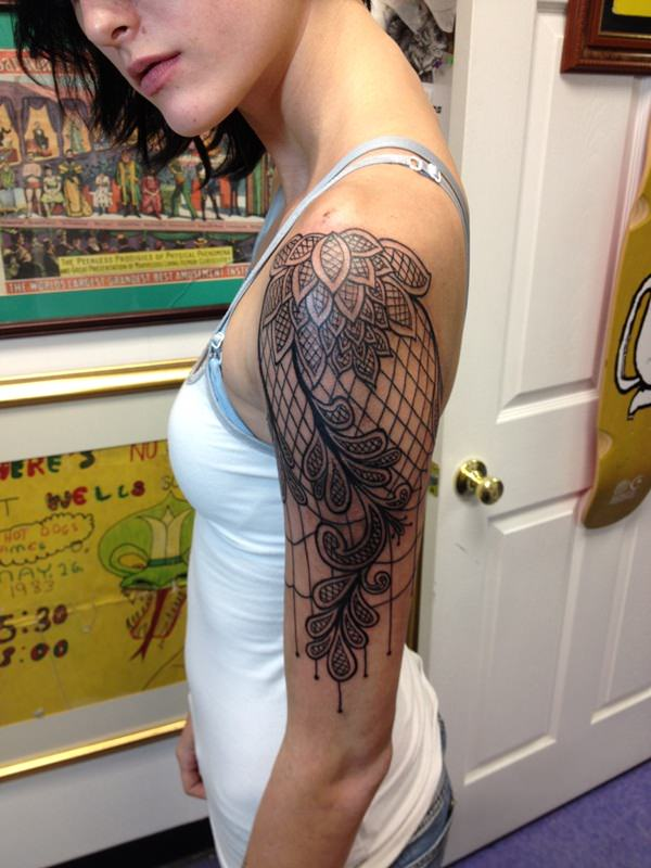 lace sleeve tattoos