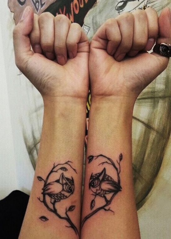 matching owl tattoo
