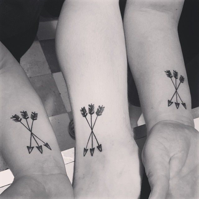matching tattoos for three
