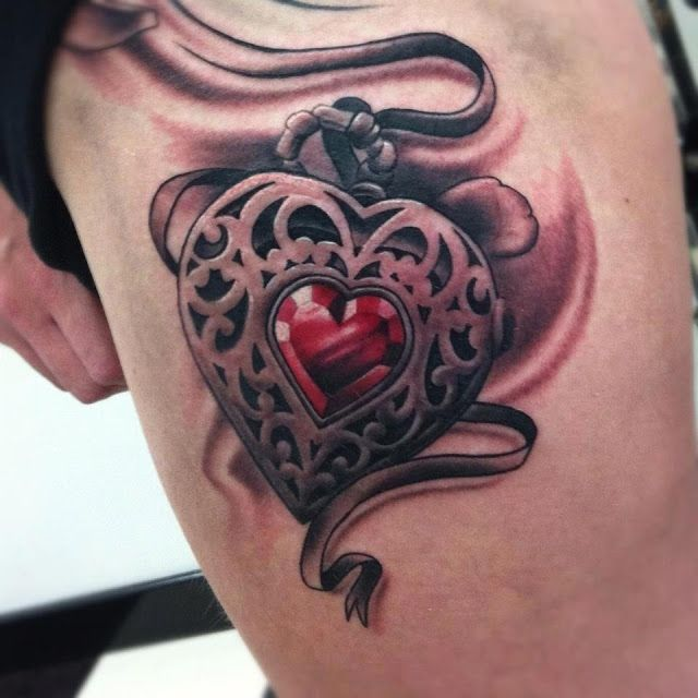 skull heart tattoos