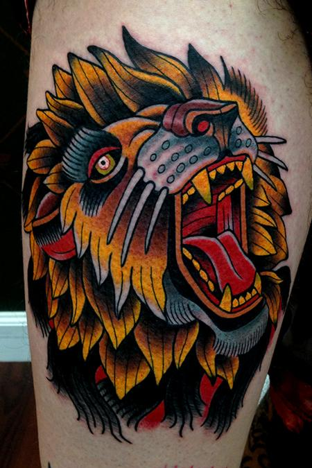traditional tattoos lion