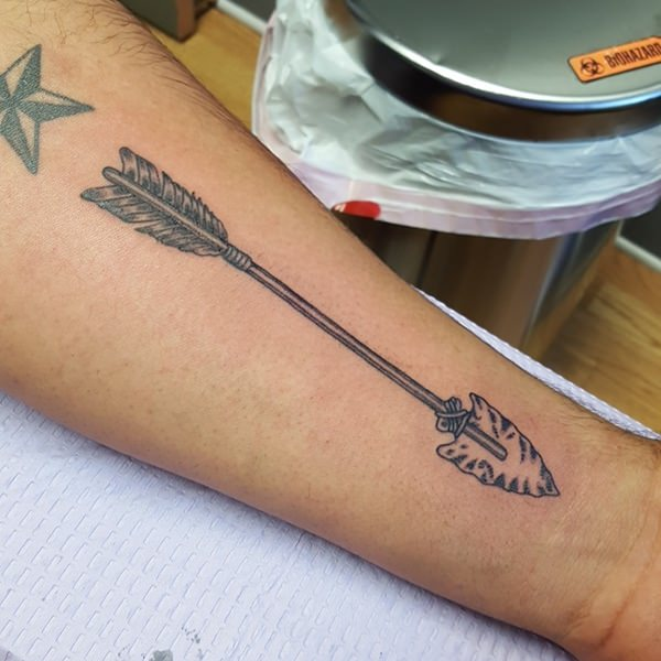 native american arrow tattoo