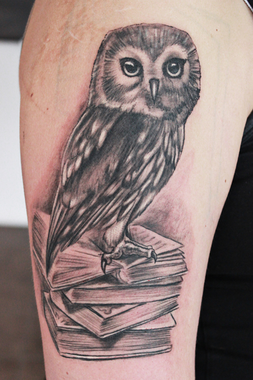 wise owl tattoo